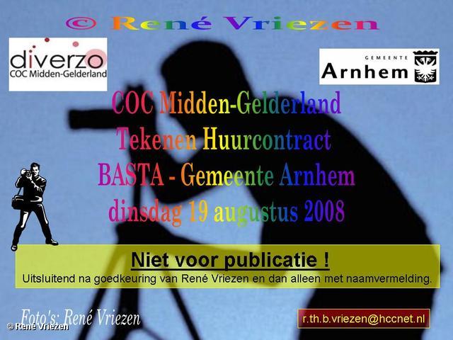 © René Vriezen 2008-08-19 #0000 COC-MG Tekenen Huurcontract BASTA dinsdag 19-08-2008
