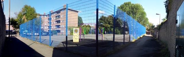 Walkway around playground -
