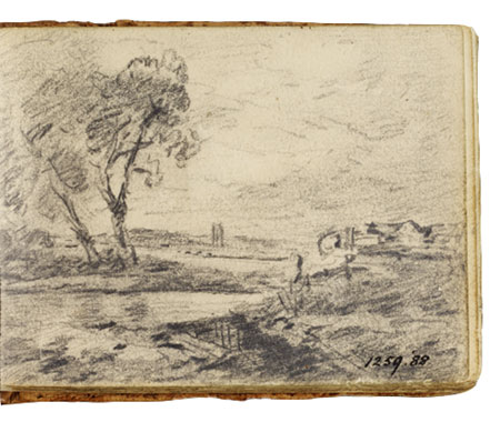 View on the Stour. Constable Sketchbook John Constable Painting (1776-1837) Oil on Canvas