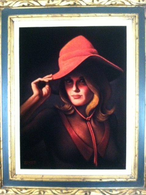 Lady In A Red Hat Woman In A Red Hat Painting