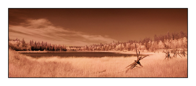 70mile House Pano Infrared photography