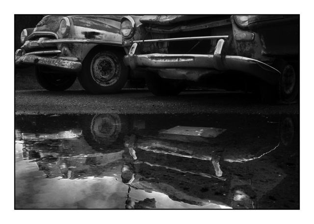 Old Car Reflections British Columbia Canada