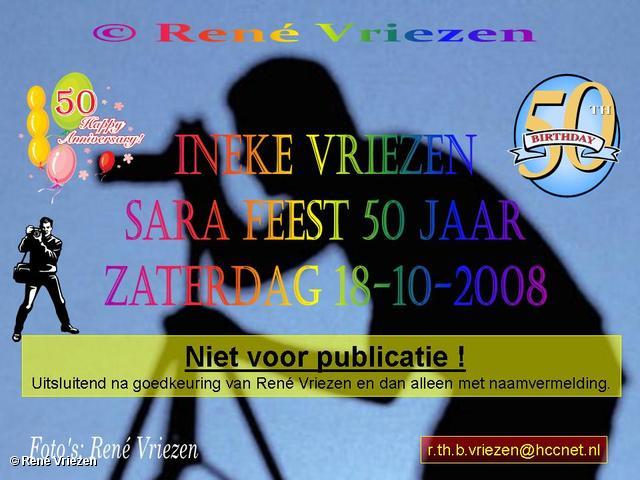 © René Vriezen 2008-10-18 #0000 Sara - Ineke 50 jaar Feest zaterdag 18 oktober 2008