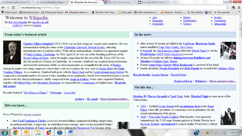 Main page wiki -