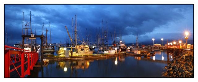 Comox Docks Morning 01 Panorama Images
