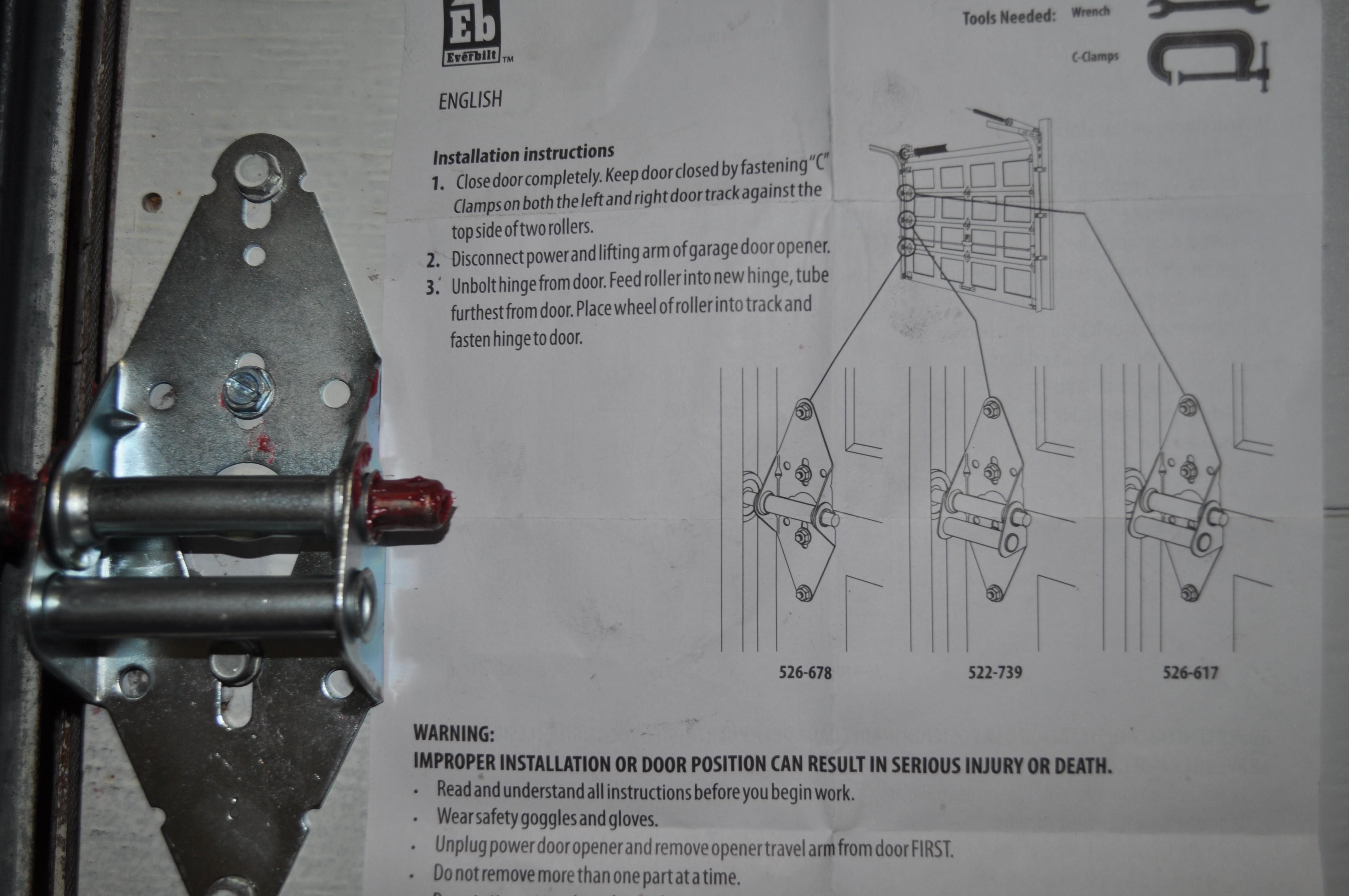 garage door hinge diagram garage wiring diagram free