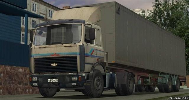 gts Maz 5432 met trailer 2 asser verv daf C reefer GTS DIVERSEN