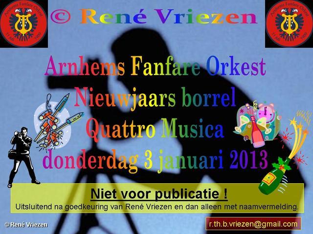 R.Th.B.Vriezen 2013 01 03 0000 Arnhems Fanfare Orkest Nieuwjaars Borrel donderdag 3 januari 2013