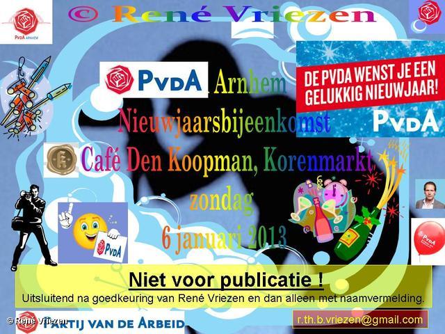 R.Th.B.Vriezen 2013 01 06 0000 PvdA Arnhem Nieuwjaarsborrel zondag 6 januari 2013