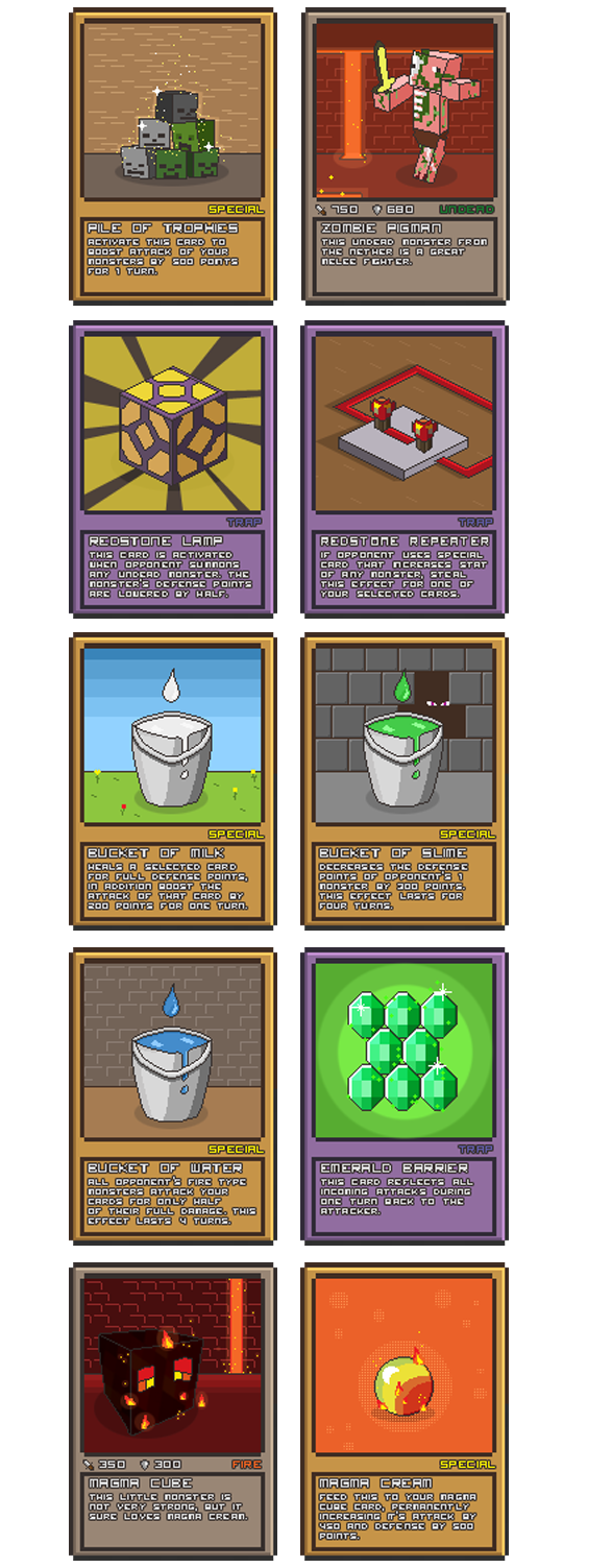 Card For Minecraft Pc Game : Minecraft pixel card game idea