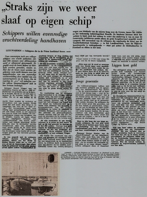 Evenredige vrachtverdeling 1975-a Schepen