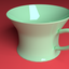 coffee cup mine green - 3D