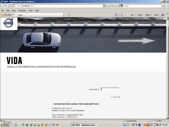 screenshot.649 Volvo VIDA via VCT2000