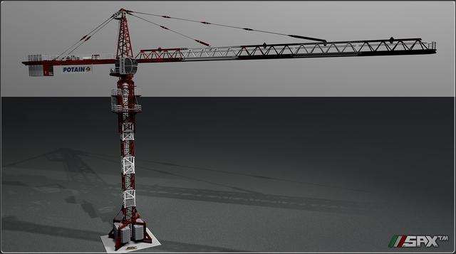 Crane Potain MDT178 Sax™ 3D Works