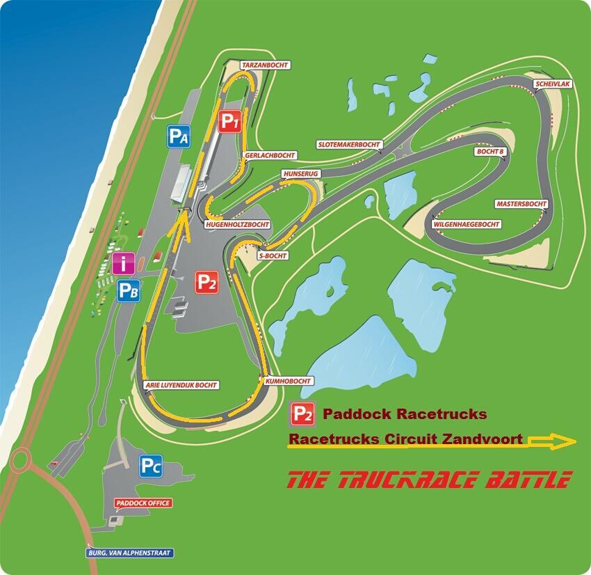 Overzicht Circuit The Truckrace Battle Zandvoort -