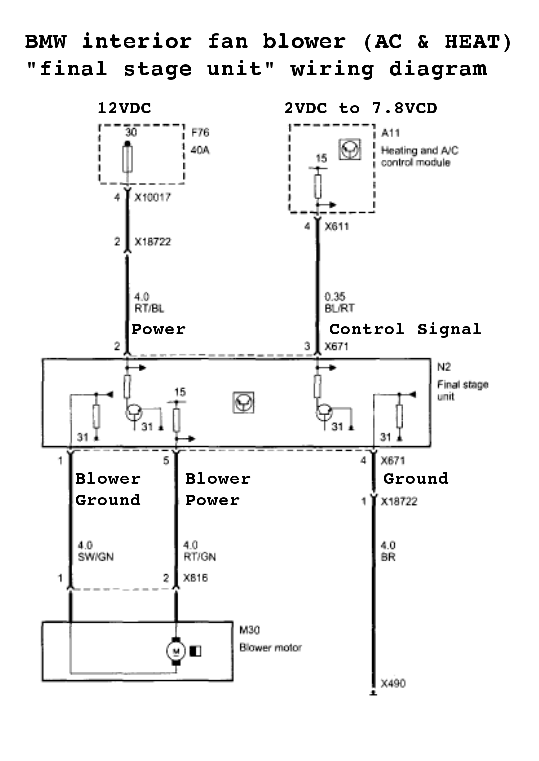 blower motor resistor wiring diagram 1992 buick roadmaster blower motor resistor wiring root cause insight into the common bmw blower motor ... #5