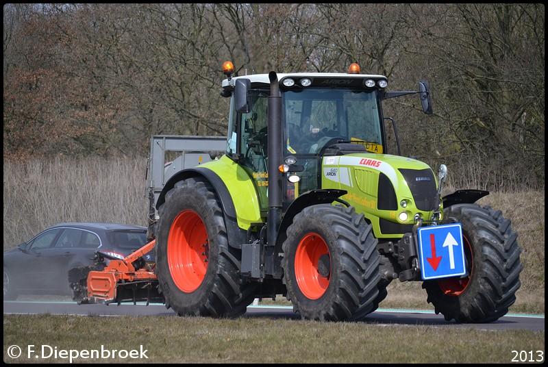 Claas 640 Arion Van der Weerd-BorderMaker - Rijdende auto's