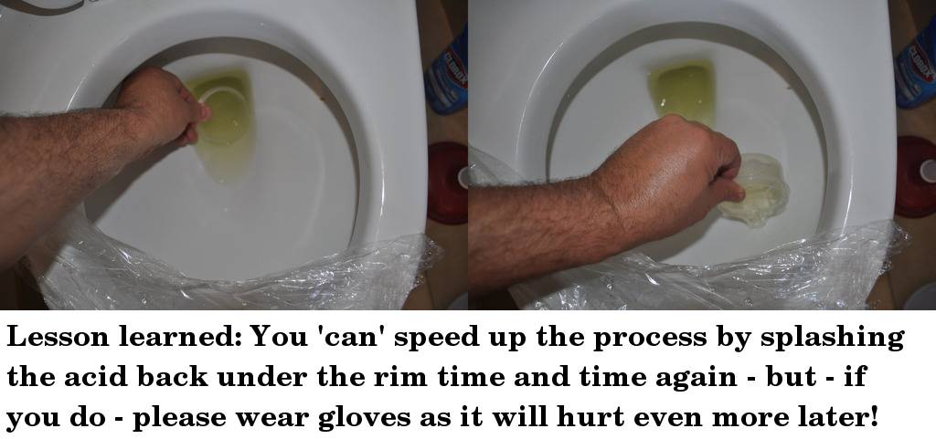 how to get brown streaks out of toilet