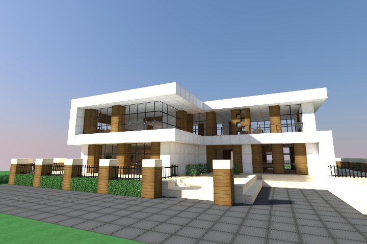 Modern house schematic minecraft schematic list mcedit for Minecraft big modern house schematic