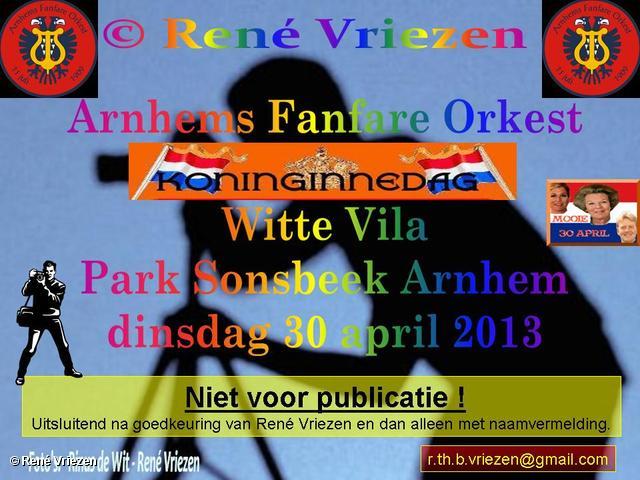 R.Th.B.Vriezen 2013 04 30 0000 Arnhems Fanfare Orkest Koning-inne-dag WitteVilla Sonsbeek dinsdag 30 april 2013