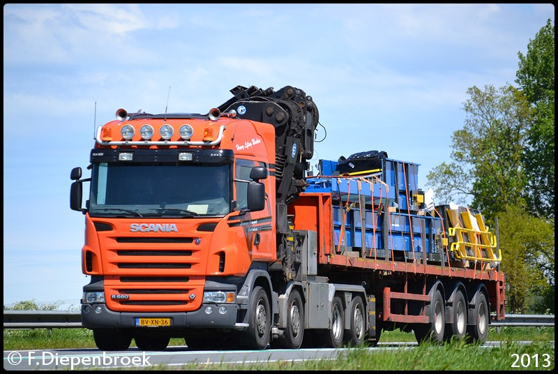 BV-XN-36 Scania R560 Remmers-BorderMaker - Rijdende auto's