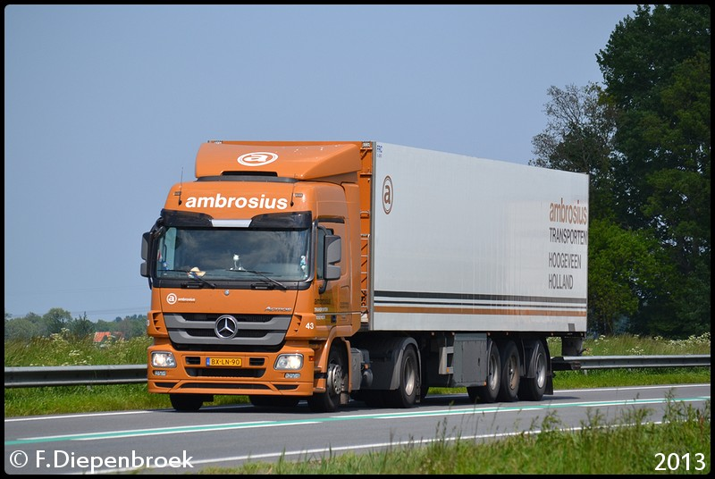 BX-LN-90 Mercedes Actros MP3 Ambrosius-BorderMaker - Rijdende auto's