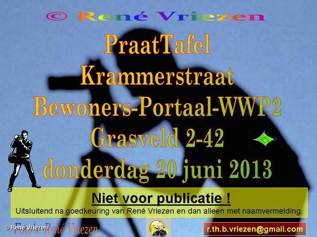 R.Th.B.Vriezen 2013 06 19 0000 Plaatsing PraatTafel Krammerstraat Bewoners WWP2 Portaal donderdag 20 juni 2013