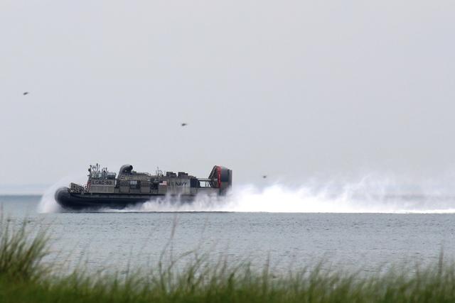 US Navy LCAC (Landing Craft Air Cushion) Norfolk, VA to visit Suzanne Clayton