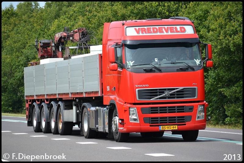 BS-HS-44 Volvo FH Vredeveld-BorderMaker - Rijdende auto's