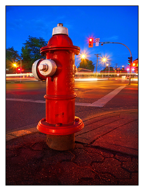 Fire Hydrant Night Comox Valley