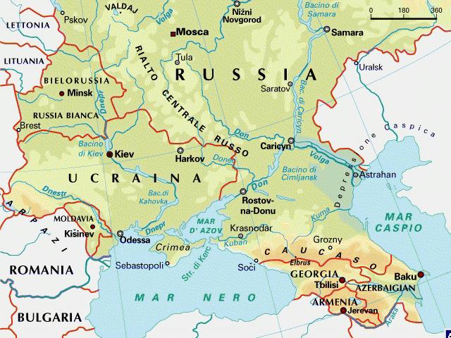 Cartina Fisica Della Russia Europea.12 Agosto 2014 Situazione Pressoche Immutata
