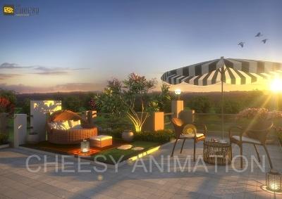 3D Exterior Penthouse Render 3d exterior designs