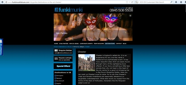 Going for a Holiday From Chester Places to stay hen party chester
