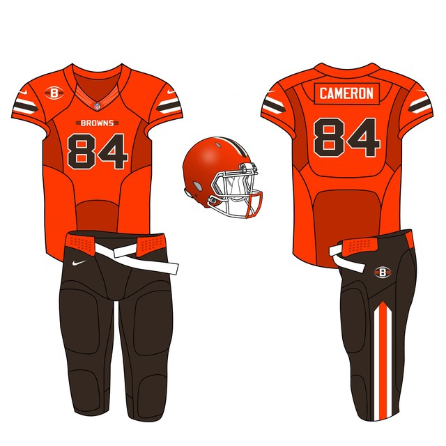 Home - Orange top, Brown bottom Cleveland Browns Uniform Update