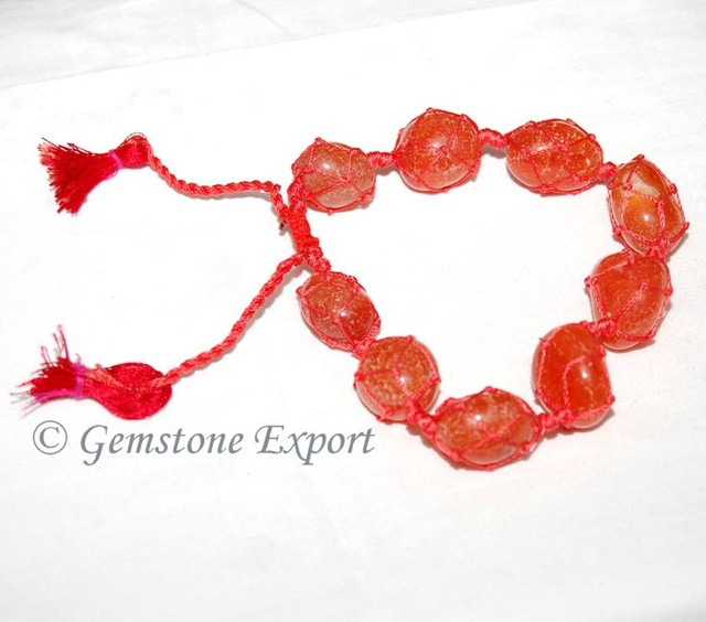 Red Carnelian Bracelet Gemstone Export