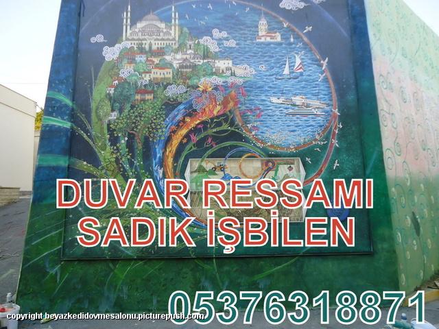 duvar ressamı beyaz kedi sadık işbilen İstanbul daki en iyi dövmeciler Dövmeci İstanbul