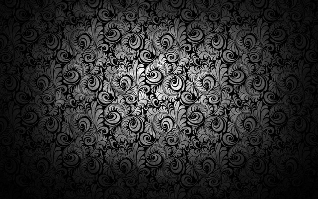 Black Background With Ornaments And Flourishes dev