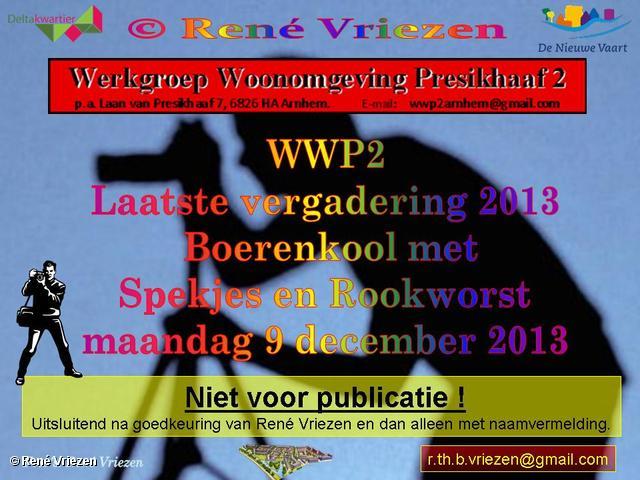 R.Th.B.Vriezen 2013 12 09 0000 WWP2 Laatste vergadering 2013 met Boerenkool met Spekjes en Rookworst maandag 9 december 2013
