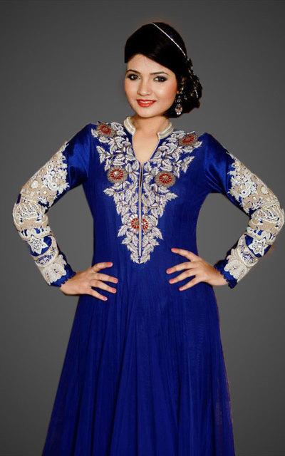 Online buy Net Anarkali Designer dresses - fashion Fashion1World