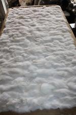 White Fox Sectional Fur Plate Fox Fur Blanket