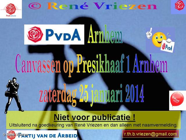R.Th.B.Vriezen 2014 01 25 0000 PvdA Arnhem Canvassen op Presikhaaf1 zaterdag 25 januari 2014
