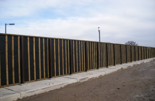 Absorptive and reflective timber barriers Absorptive and reflective timber barriers