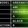 225 70 R15C - Greenstone Description