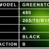 205 70 R15A - Greenstone Description
