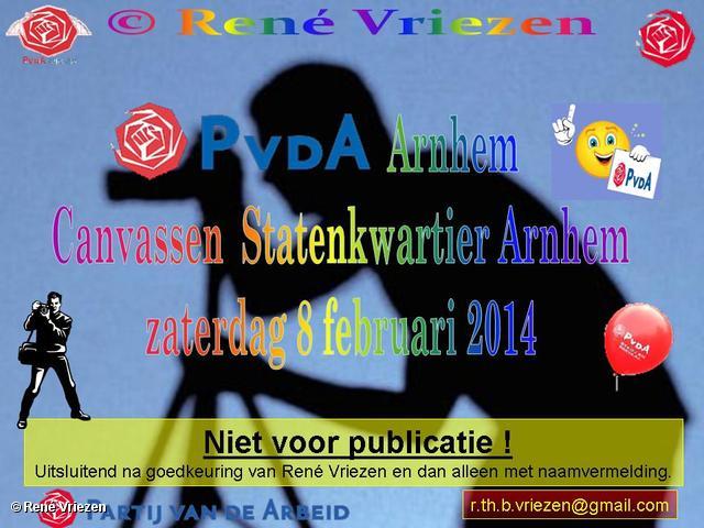 R.Th.B.Vriezen 2014 02 08 0001 PvdA Arnhem Canvassen Statenkwartier zaterdag 8 februari 2014