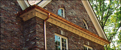 Copper Rain Gutters from Advanced Seamless Picture Box