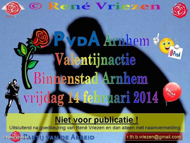 R.Th.B.Vriezen 2014 02 14 0000 PvdA Arnhem Valentijnactie Binnenstad Arnhem vrijdag 14 februari 2014