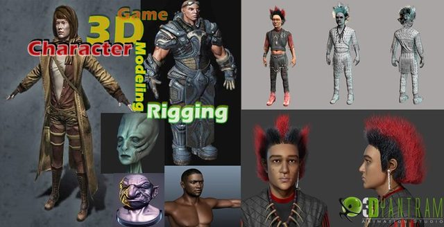 3d Game Character animation Rigging London Yantram 3d Character Animation & Modeling