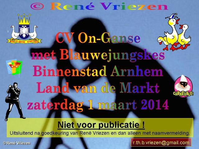 R.Th.B.Vriezen 2014 03 01 0000 CV On-Ganse met Blauwejungskes land van de markt Binnenstad Arnhem zaterdag 1 maart 2014