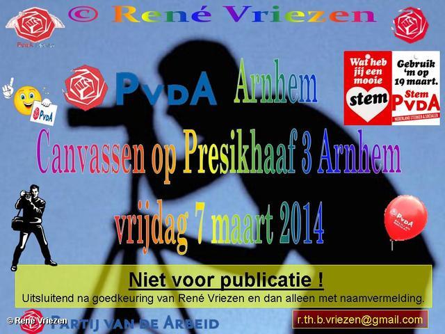 R.Th.B.Vriezen 2014 03 07 0000 PvdA Arnhem Canvassen Presikhaaf 3 Arnhem vrijdag 7 maart 2014